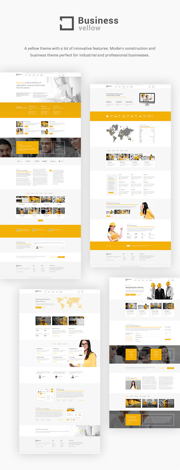 yellow business - construction theme for industrial businesses (business) Yellow Business – Construction Theme for Industrial Businesses (Business) preview full 1