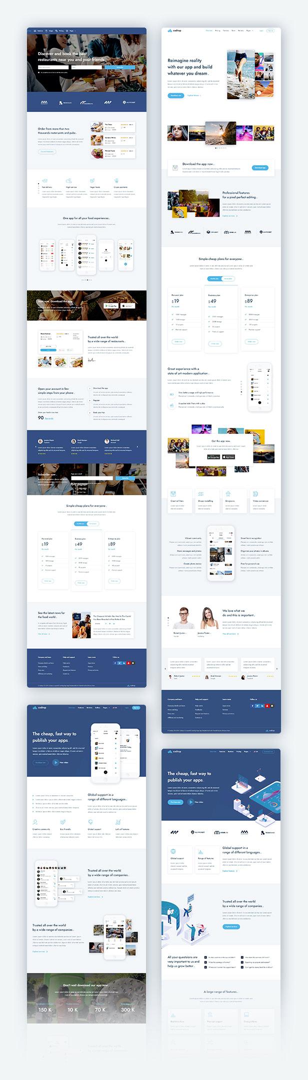 Cadrox - App Landing Page Theme - 1