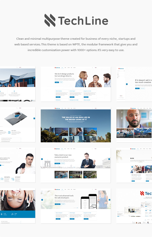 TechLine - Web services and business theme - 1